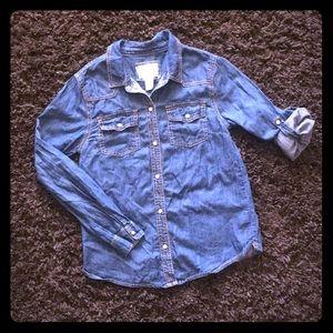 Forever 21 girls Denim Button Down Shirt